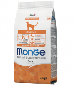 Monge Cat - Natural Superpremium - Adult - Sterilised - 10 kg x 2 sacchi