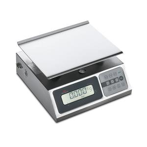 Portable digital Waage aus Küche - Boden unterstützt Edelstahl waren - mit einem Gewicht von Einheiten g, lb e oz.