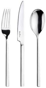 Posate in acciaio inox spazzolato forgiato - Serie Tie (12pz)