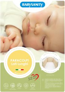 MORBIDO PARACOLPI Lettino Culla Neonato Bambino Protezione Avvolgente Cotone - MADE IN ITALY- Lati Lunghi (Orsetto Marinaio Beige) related image