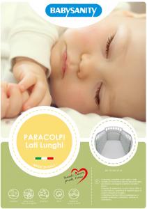 MORBIDO PARACOLPI Lettino Culla Neonato Bambino Protezione Avvolgente Cotone - MADE IN ITALY- Lati Lunghi (Orsetto Marinaio Azzurro) related image