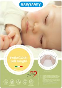MORBIDO PARACOLPI Lettino Culla Neonato Bambino Protezione Avvolgente Cotone - MADE IN ITALY- Lati Lunghi (Orsetto Marinaio Rosa) related image