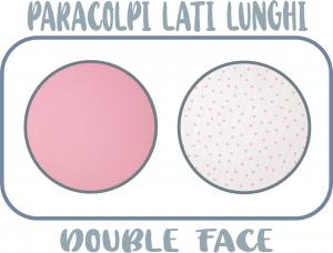 MORBIDO PARACOLPI Lettino Culla Neonato Double Face Protezione Avvolgente Cotone - MADE IN ITALY- Lati Lunghi (Pois Rosa) related image