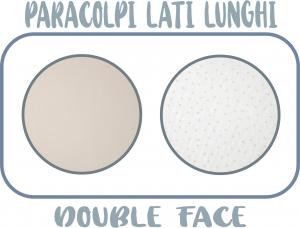 MORBIDO PARACOLPI Lettino Culla Neonato Double Face Protezione Avvolgente Cotone - MADE IN ITALY- Lati Lunghi (Pois Tortora) related image