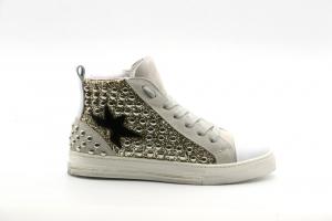 @GO Calzatura Donna Sneakers Galaxy Bianco/Glitter Platino CN4106/SML