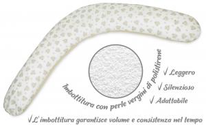 Babysanity® Cuscino Gravidanza Di Qualità' Per Un Allattamento Confortevole Del Neonato Cotone 100% - Made In Italy - (Cagnolino beige) related image