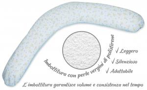 Babysanity® Cuscino Gravidanza Di Qualità' Per Un Allattamento Confortevole Del Neonato Cotone 100% - Made In Italy - (Palloncino Azzurro) related image