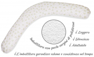 Babysanity® Cuscino Gravidanza Di Qualità' Per Un Allattamento Confortevole Del Neonato Cotone 100% - Made In Italy - (Palloncino Rosa) related image