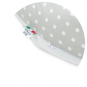 Babysanity® Cuscino Gravidanza Di Qualità' Per Un Allattamento Confortevole Del Neonato Cotone 100% - Made In Italy - (Pois Beige) related image