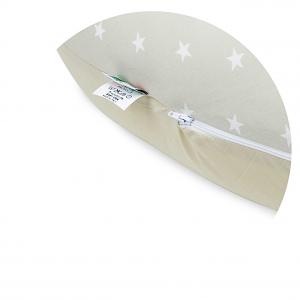 Babysanity® Cuscino Gravidanza Di Qualità' Per Un Allattamento Confortevole Del Neonato Cotone 100% - Made In Italy - (Stella Beige) related image