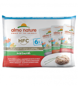 Almo Nature - HFC Cat - Multipack - Natural - Pollo - 6 x 6 buste 55g