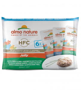 Almo Nature - HFC Cat - Multipack - Jelly - Tonno - 6 x 6 buste 55g