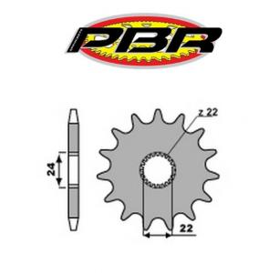 4061518NC PIGNONE TRASMISSIONE Z.15 FORO 22 MM. P.520 APRILIA ROTAX PBR