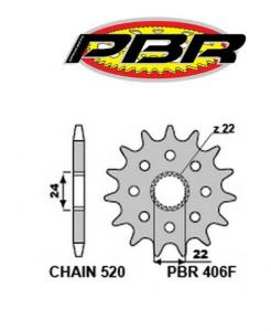 406F1418NC PIGNONE  RACING TRASMISSIONE Z.14 FORO 22 MM. P.520 APRILIA ROTAX PBR