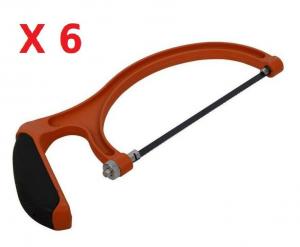 SET 6PZ Seghetto ad arco sega a mano archetto legno per potatura 25 cm JOB LOTTO