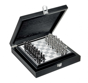 Scacchi classic in silver plated con scatola in legno