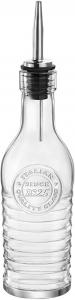 Bottiglia in vetro per olio e aceto con beccuccio in acciaio Inox CL 27 cm.19h diam.6,3