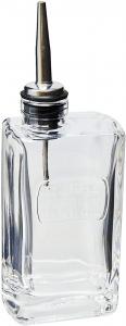 Bottiglia olio in vetro con tappo versatore in acciaio inox cl 25 Optima