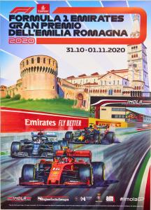 Poster Locandina Formula 1 Emirates Gran Premio Imola dell'Emilia Romagna 31/10 - 1/11/2020