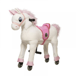 Cavallo Cavalcabile con ruote Unicorno Bianco