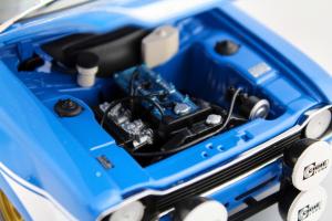 Ford Escort I Rs 1600 Fav 1970 Blue With White Stripes 1/18