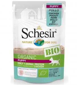 Schesir Dog - Bio - Puppy - Pollo - 85g x 16 buste