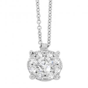 Collana Oro 18kt Diamanti ct.0,18