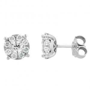 Orecchini Oro 18kt Diamanti ct.0,70 - Main view - small