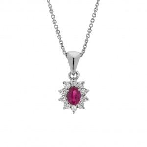 Collana Oro 18kt  Rubino e Diamanti - Main view