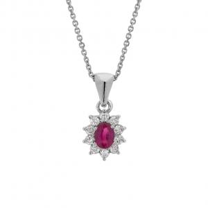 Collana Oro 18kt  Rubino e Diamanti - Main view - small