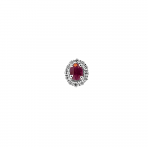 Orecchini Rubino e Diamanti - View1