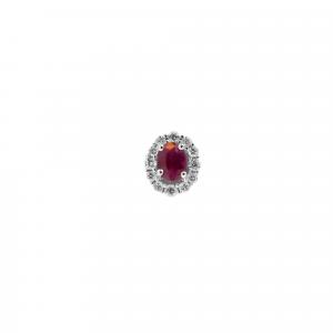 Orecchini Rubino e Diamanti - Sole - small