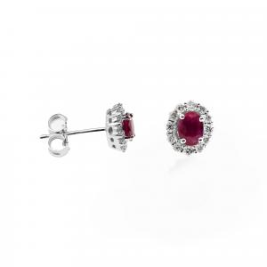 Orecchini Rubino e Diamanti - Main view