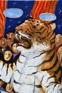 Procopio Pino Domatore di Tigri Serigrafia Formato cm 50x35