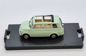 Fiat 500 Giardiniera Open Light Green 1960 1/43 100% Made In Italy By Brumm