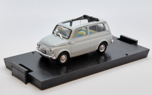 Fiat 500 Giardiniera Open Light Grey 1960 1/43 100% Made In Italy By Brumm