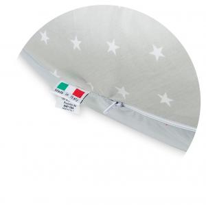 Babysanity® Cuscino Gravidanza Di Qualità' Per Un Allattamento Confortevole Del Neonato Cotone 100% - Made In Italy - (Stella Grigio) related image