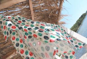 Telo multiuso - mussola in bamboo 100 % - 120x120 - Ancore - Multicolor
