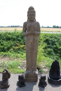 Statua Buddha in preghiera H 205 cm in pietra