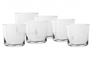 Set 6 pezzi bicchieri bassi in vetro cristallino Savage cl 29,5 cm.7,7h diam.8,6