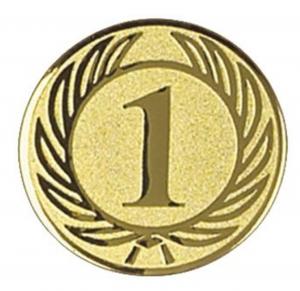 Piastrina primo posto colore oro cm.2,5x2,5x0,1h