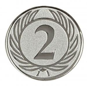 Piastrina primo secondo posto colore argento cm.2,5x2,5x0,1h