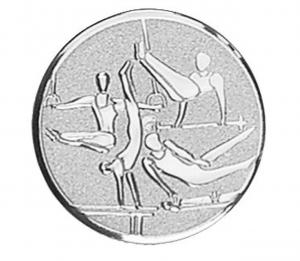 Piastrina tonda ginnastica maschile cm.0,1h diam.2,5