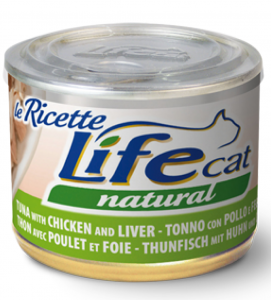 Life Cat - Natural - Le ricette - 150g x 24 lattine