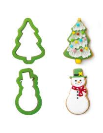 Tagliapasta albero di Natale e pupazzo di neve