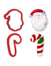 Tagliapasta in Babbo Natale e candy cane
