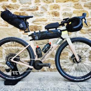 Borsa da telaio half frame waterproof 100% per bikepacking