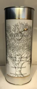 Latta da 1 litro di olio extra vergine di oliva 100 % italiano