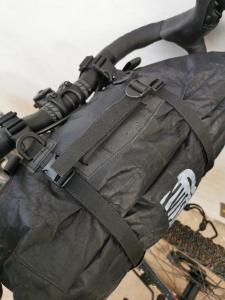 Dyneema - Borsa da manubrio con tasca frontale waterproof per bikepacking