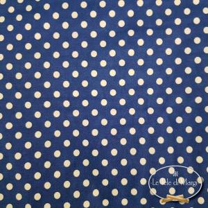 Completo Lenzuola Pois blu